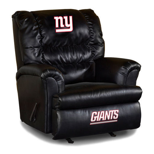 New York Giants Big Daddy Leather Recliner | Man Cave Authority | IMP 79-1013