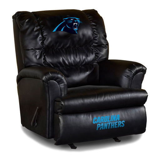Carolina Panthers Big Daddy Leather Recliner | Man Cave Authority | IMP 79-1017
