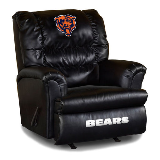 Chicago Bears Big Daddy Leather Recliner | Man Cave Authority | IMP 79-1019