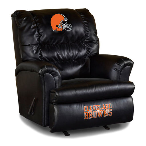Cleveland Browns Big Daddy Leather Recliner | Man Cave Authority | IMP 79-1020
