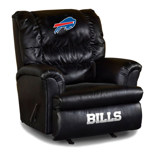Buffalo Bills Big Daddy Leather Recliner | Man Cave Authority | IMP 79-1021
