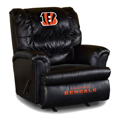 Cincinnati Bengals Big Daddy Leather Recliner | Man Cave Authority | IMP 79-1023