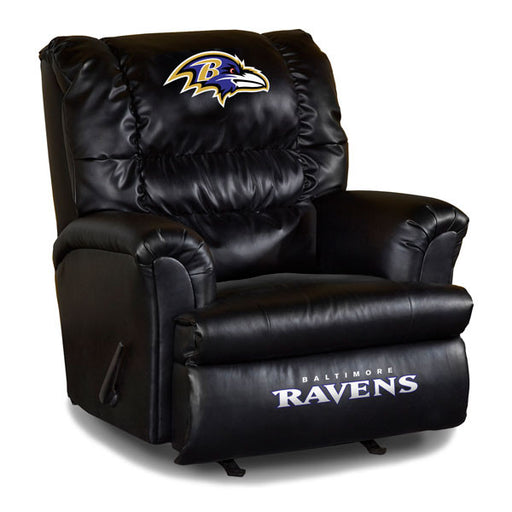 Baltimore Ravens Big Daddy Leather Recliner | Man Cave Authority | IMP 79-1025