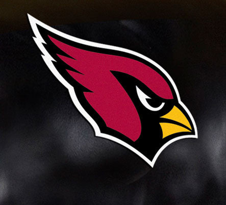 Close Up of Embroidered Logo | Arizona Cardinals Big Daddy Leather Recliner
