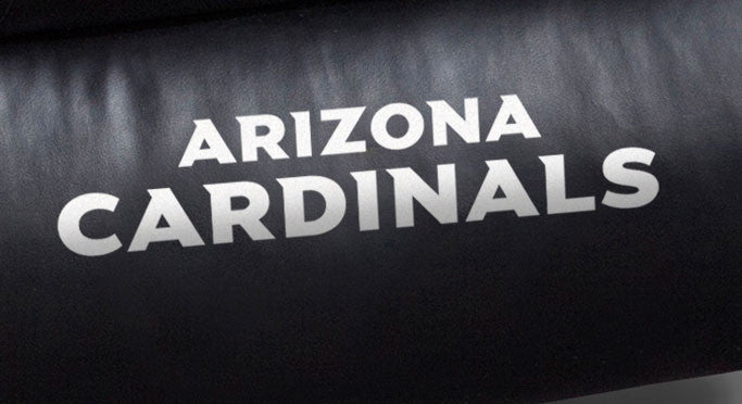 Close Up of Embroidered Logotype | Arizona Cardinals Big Daddy Leather Recliner