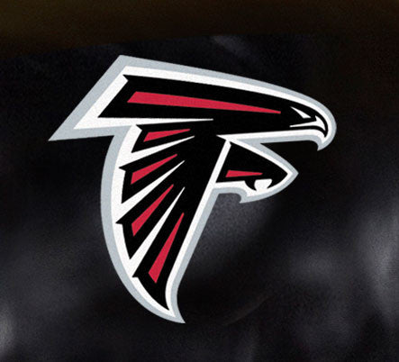 Close Up of Embroidered Logo | Atlanta Falcons Big Daddy Leather Recliner