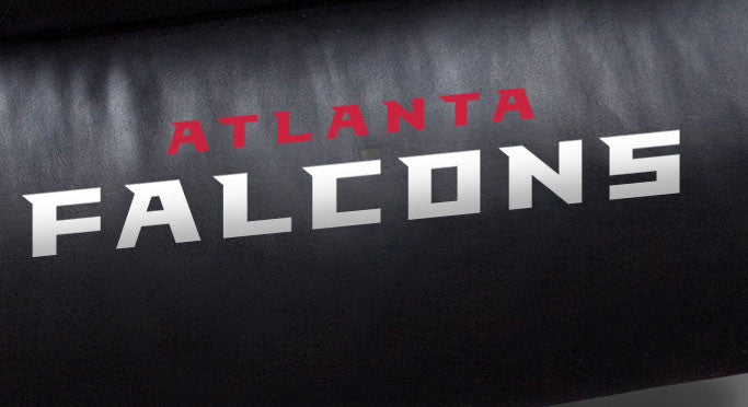 Close Up of Embroidered Logotype | Atlanta Falcons Big Daddy Leather Recliner