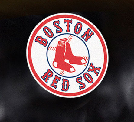 Close Up of Embroidered Logo | Boston Red Sox Big Daddy Leather Recliner