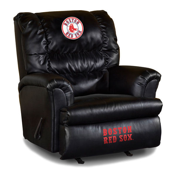 Boston Red Sox Big Daddy Leather Recliner | Man Cave Authority | IMP 79-2003