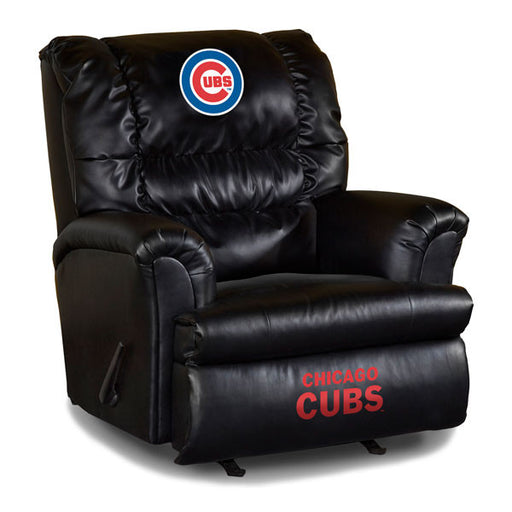 Chicago Cubs Big Daddy Leather Recliner | Man Cave Authority | IMP 79-2005