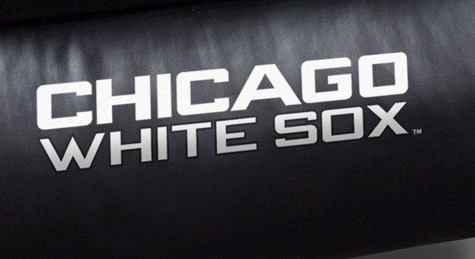 Close Up of Embroidered Logotype | Chicago White Sox Big Daddy Leather Recliner