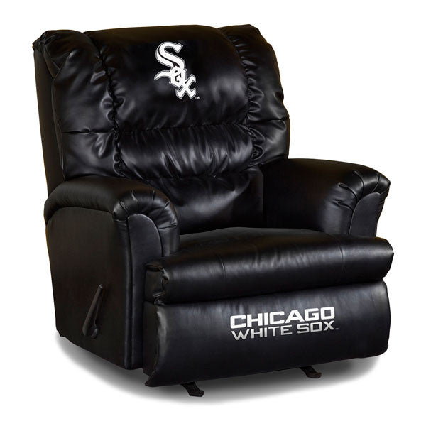 Chicago White Sox Big Daddy Leather Recliner | Man Cave Authority | IMP 79-2006