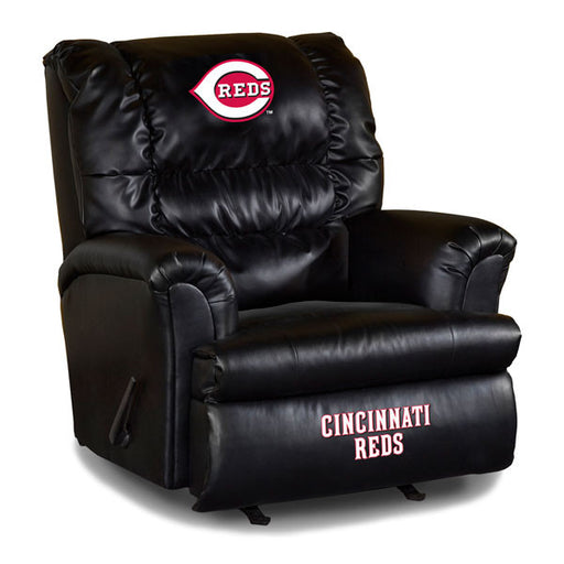 Cincinnati Reds Big Daddy Leather Recliner | Man Cave Authority | IMP 79-2007