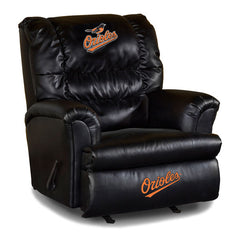 Baltimore Orioles Big Daddy Leather Recliner | Man Cave Authority | IMP 79-2014