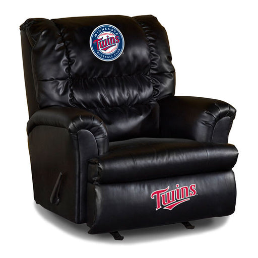 Minnesota Twins Big Daddy Leather Recliner | Man Cave Authority | IMP 79-2017