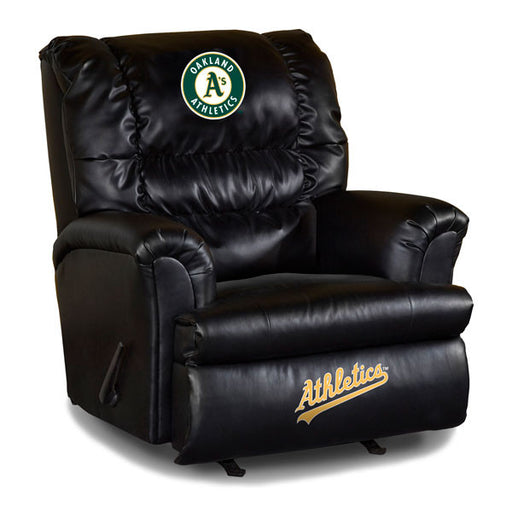 Oakland Athletics Big Daddy Leather Recliner | Man Cave Authority | IMP 79-2018