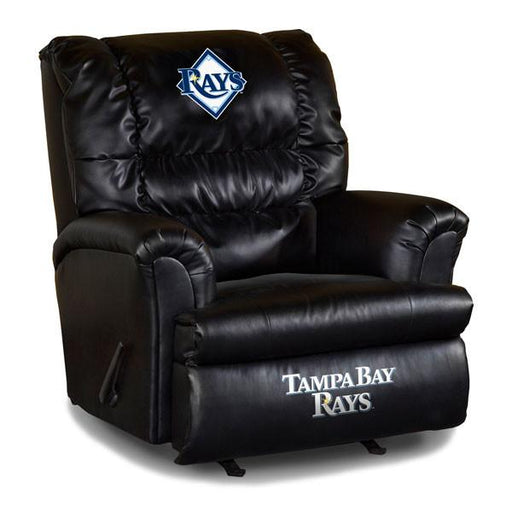 Tampa Bay Devil Rays Big Daddy Leather Recliner | Man Cave Authority | IMP 79-2019