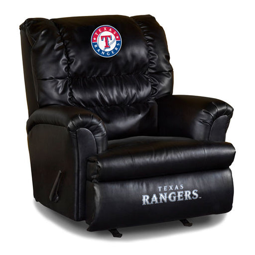 Texas Rangers Big Daddy Leather Recliner | Man Cave Authority | IMP 79-2020