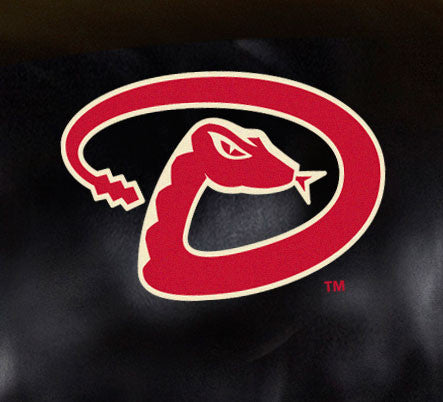 Close Up of Embroidered Logo | Arizona Diamondbacks Big Daddy Leather Recliner