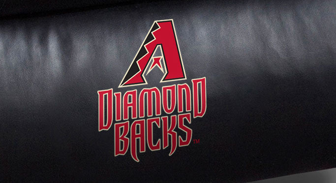 Close Up of Embroidered Logotype | Arizona Diamondbacks Big Daddy Leather Recliner