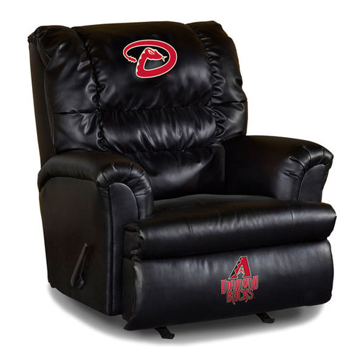 Arizona Diamondbacks Big Daddy Leather Recliner | Man Cave Authority | IMP 79-2022