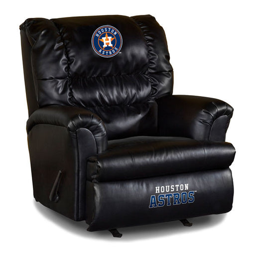 Houston Astros Big Daddy Leather Recliner | Man Cave Authority | IMP 79-2025