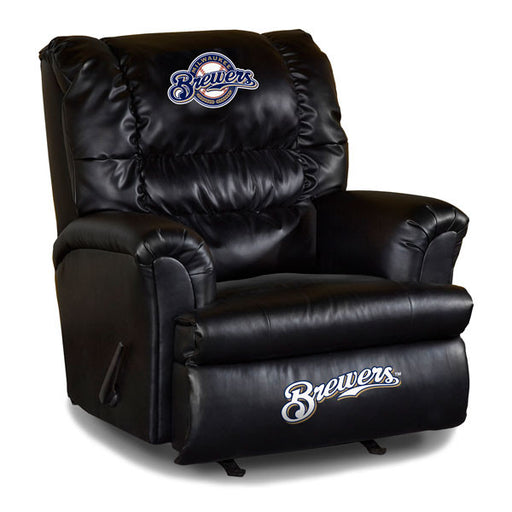 Milwaukee Brewers Big Daddy Leather Recliner | Man Cave Authority | IMP 79-2027