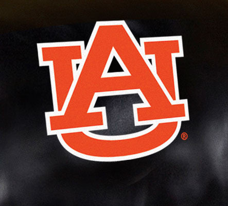 Close Up of Embroidered Logo | Auburn University Big Daddy Leather Recliner