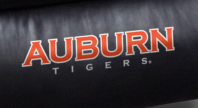 Close Up of Embroidered Logotype | Auburn University Big Daddy Leather Recliner