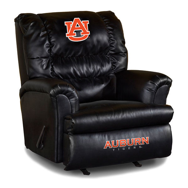Auburn University Big Daddy Leather Recliner | Man Cave Authority | IMP 79-3002