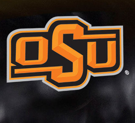 Close Up of Embroidered Logo | Oklahoma State University Big Daddy Leather Recliner