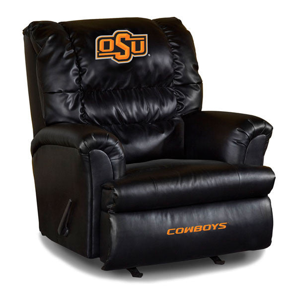 Oklahoma State University Big Daddy Leather Recliner | Man Cave Authority | IMP 79-3006