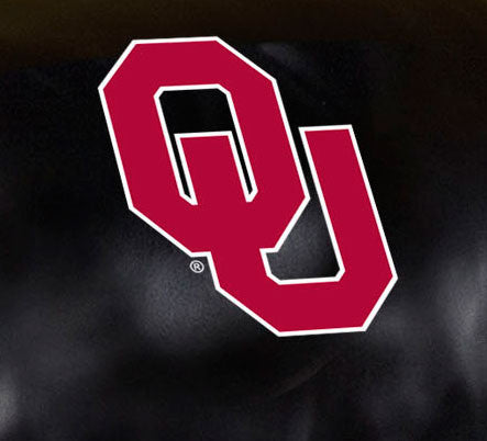 Close Up of Embroidered Logo | University Of Oklahoma Big Daddy Leather Recliner