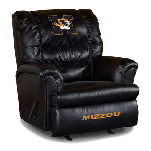 University Of Missouri Big Daddy Leather Recliner | Man Cave Authority | IMP 79-3019