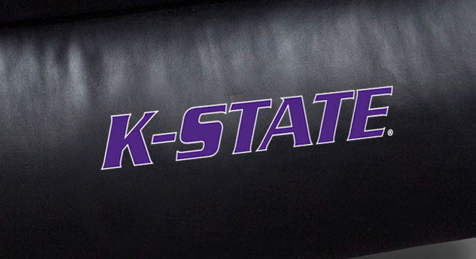Close Up of Embroidered Logotype | University Of Kansas State Big Daddy Leather Recliner