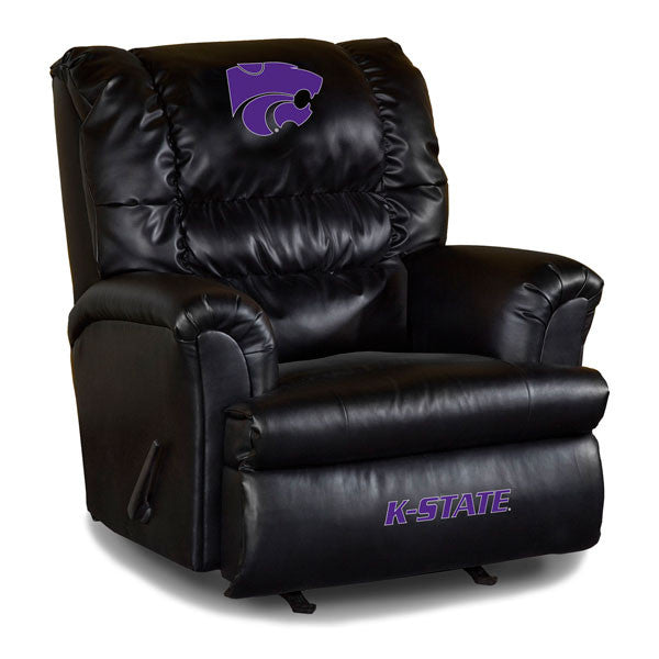 University Of Kansas State Big Daddy Leather Recliner | Man Cave Authority | IMP 79-3023