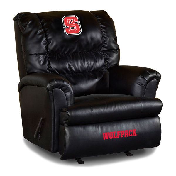 North Carolina State Big Daddy Leather Recliner | Man Cave Authority | IMP 79-3025
