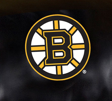 Close Up of Embroidered Logo | Boston Bruins Big Daddy Leather Recliner