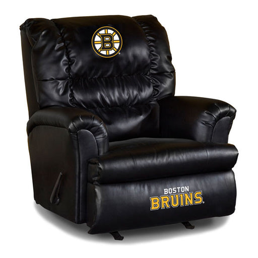 Boston Bruins Big Daddy Leather Recliner | Man Cave Authority | IMP 79-4101