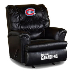 Montreal Canadiens Big Daddy Leather Recliner | Man Cave Authority | IMP 79-4109