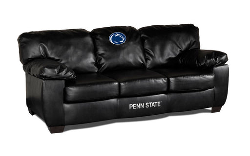 Pennsylvania State Classic Black Leather Sofa | Man Cave Authority | IMP 79-6017