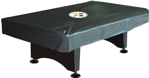 Pittsburgh Steelers 8' Deluxe Pool Table Cover | Man Cave Authority | IMP 80-1004
