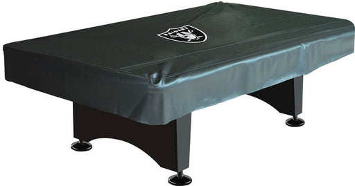 Oakland Raiders 8' Deluxe Pool Table Cover | Man Cave Authority | IMP 80-1010
