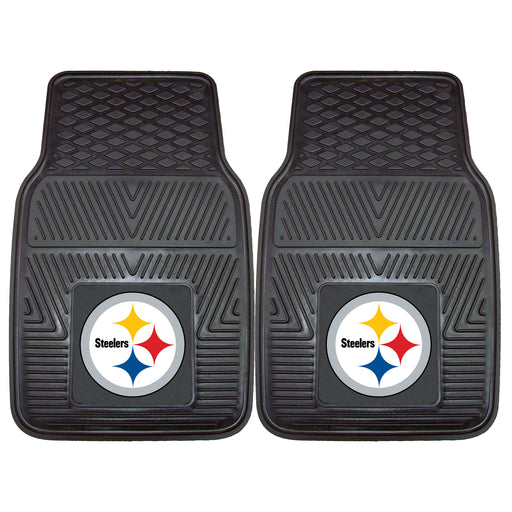 Pittsburgh Steelers 2-pc Vinyl Car Mat Set | Man Cave Authority | 8752