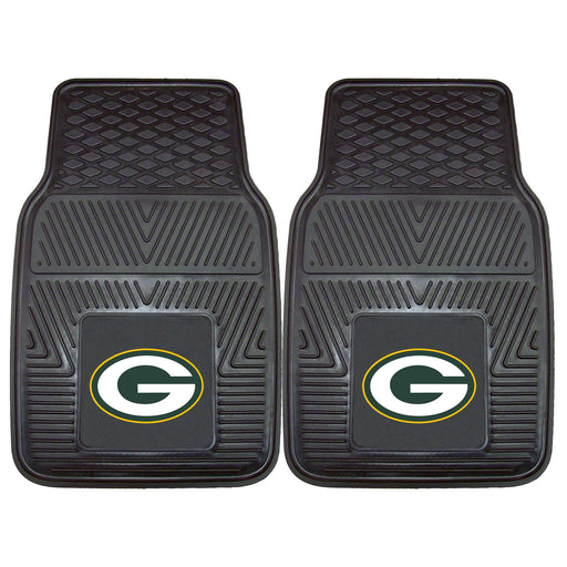 Green Bay Packers 2-pc Vinyl Car Mat Set | Man Cave Authority | 8756