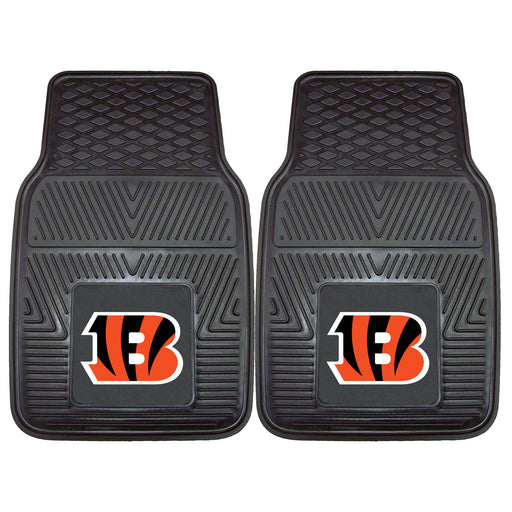Cincinnati Bengals 2-pc Vinyl Car Mat Set | Man Cave Authority | 8891