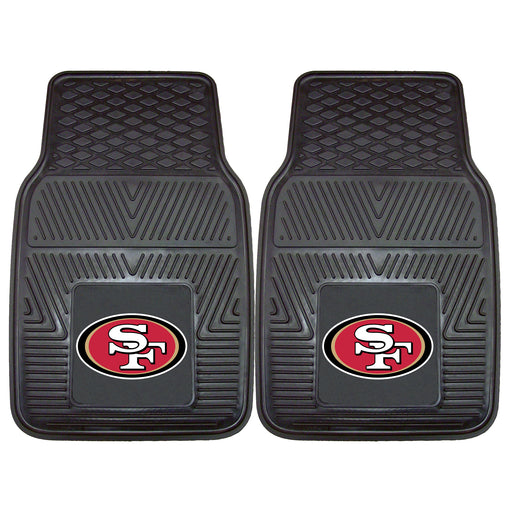 San Francisco 49ers 2-pc Vinyl Car Mat Set | Man Cave Authority | 8902