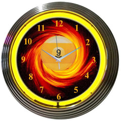 9 Ball Fire Neon Clock | Man Cave Authority | 89FIRE
