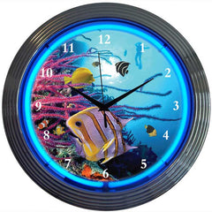 Aquarium Neon Clock | Man Cave Authority | 8AQUAX