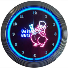 BBQ Pig Neon Clock | Man Cave Authority | 8BBQPI